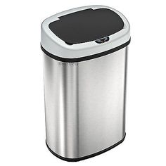 f811175ae 13 Gallon Automatic Touch-free Sensor Stainless Steel Trash Can Kitchen 50R   Home