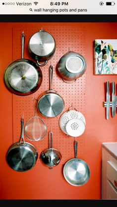 Decorating kitchen AND finding space for new pans!