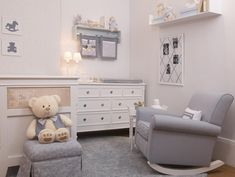 Grey baby bedroom