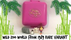 Polly pocket Wild zoo world from 1989 100% complete rare variant