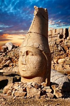 Mount Nemrut, Turkey One of the most incredible places I've been...