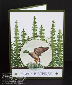 Wilderness Awaits and Wonderland Birthday Card. A handmade masculine birthday.