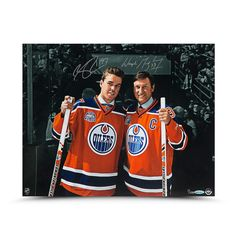 WAYNE GRETZKY AND CONNOR MCDAVID AUTOGRAPHED GENERATIONS 16 X 20 UDA LE 100 - Game Day Legends