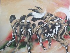 Dog Dance by Lin Barrie pixels African Wild Dog, Wild Dogs, Dog Art, Moose Art, Dance, Animals, Animales, Dancing, Animaux