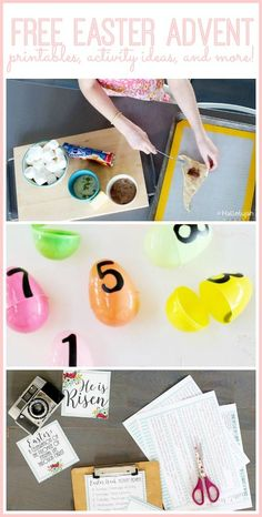 Easter Week Activity Advent - with all the activity ideas, printables, etc - love this! - Sugar Bee Crafts