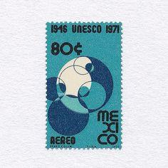 25th Anniversary of UNESCO (80¢). Mexico, 1971.