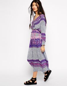 Image 1 of Free People She's A Lady Midi Dress in Paisley Print