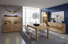 Krásný nadčasový celomasivní obývací program z dubového masivu vhodný do obývacích pokojů i do jídelen. Program, Divider, Dining Table, Room, Furniture, Home Decor, Bedroom, Decoration Home, Room Decor