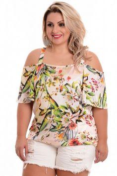 Blusa Plus Size Ciganinha Rose