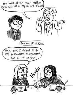 Haha :) oh snape.... :(