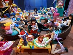 Welcome to Sailor Central. This is where my Sailor Moon figuarts hang out most of the time. They make a big mess and I have to do all the washing up. It's a good thing the animals are toilet trained and Artemis even knows how to eat with a fork. Toilet Training, Artemis, Hanging Out, Sailor Moon, Good Times, Banner, Fork, Eat, Random