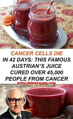 This is a famous recipe by the Austrian doctor Rudolf Breuss and can cure cancer in just 42 days. It is an all natural recipe and a wonderful remedy that is based on a 42-day juice cleanse and ever since it was discovered it has healed over 45.000 patients.