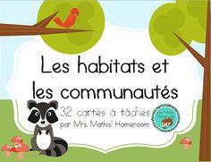 Task cards on habitats and communities, in French.    Cartes à tâches sur les habitats et les communautés, en français!  $
