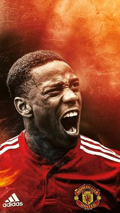 When a great RedDevil roars! Man Utd Fc, Messi Vs Ronaldo, Anthony Martial, Manchester United Players, Premier League Champions, Europa League, Man United, Football Players, The Unit