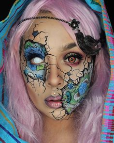 Happy Monday Boils and Ghouls! Last little shot of my @amazing_jiro recreation! Hope ya dig it! Details in previous posts! ##vegas_nay #lushwigs #boulonguise #meltcosmetics #meltdarling #meltspacecake #sugarpill #scmpigment #starcrushedminerals #lunatickcosmeticlabs #royallangnickle by eva.lamorte