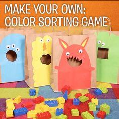 """1,917 Synes godt om, 21 kommentarer – LEGO (@lego) på Instagram: """"Such an easy way to introduce children to color sorting! #LEGODUPLO"""""""