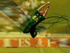 """Jonathan Neil """"Jonty"""" Rhodes (born 27 July is a former South African Test and One Day International cricketer who played for the South African cricket team between 1992 and One Day International, Ab De Villiers, World Cricket, Smocking Patterns, Cricket Sport, Power To The People, Sports Stars, Extreme Sports, Rhodes"""