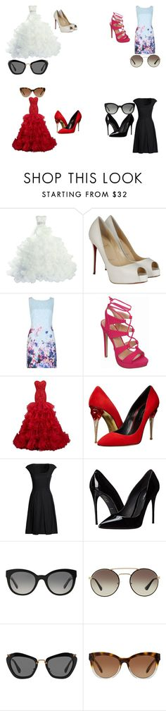 """Untitled #59"" by chinesharris on Polyvore featuring Christian Louboutin, Izabel London, Oscar de la Renta, Canvas by Lands' End, Dolce&Gabbana, Burberry, Prada, Miu Miu and Michael Kors"