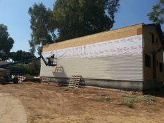 בניית בית לב בגת: סיום הפלאנקים בקיר הצפוני