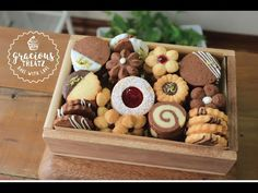 Butter Cookie Box | Butter & Chocolate Cookie Variations - YouTube