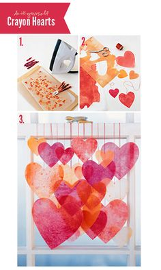 Valentine's Day Crafts We Love: Crayon Hearts | Polka Dot Design Blog: Ideas, Inspiration & Invitations
