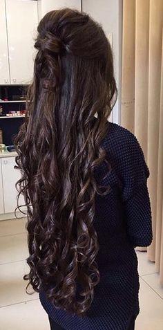 Curls For Long Hair, Super Long Hair, Beautiful Long Hair, Gorgeous Hair, Curled Hairstyles, Trendy Hairstyles, Cut My Hair, Silky Hair, Hair Dos