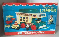 Vintage Fisher Price Little People Play Family CAMPER 994 Playset Sealed NEW #FisherPrice