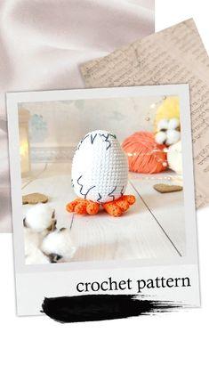 Handmade Ideas, Handmade Toys, Handmade Crafts, Crochet Round, Single Crochet, Cute Egg, Easter Crochet Patterns, Basic Crochet Stitches, Amigurumi Toys