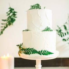Go Green With These Wedding Cakes Decorated with Fresh Ferns | Brides.com