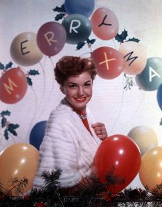 Merry Christmas wishes from Esther Williams. #vintage #Christmas #actresses