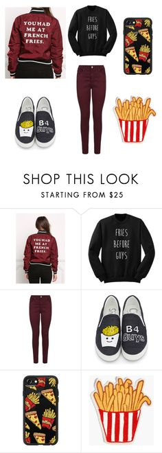"""""""FRIES 🍟"""" by grannie ❤ liked on Polyvore featuring AG Adriano Goldschmied, Circus by Sam Edelman, Casetify and Madewell"""