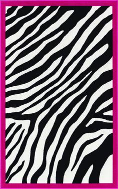 Zebra Print Rug