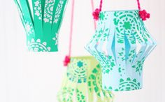 Follow this tutorial to make colorful paper lanterns.
