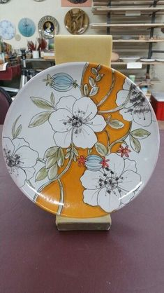 vida by Espana Dinnerware, Jardine Collection - Macy's Painted Ceramic Plates, Hand Painted Ceramics, Ceramic Painting, Porcelain Ceramics, Ceramic Art, Porcelain Skin, Pottery Plates, Glazes For Pottery, Ceramic Pottery