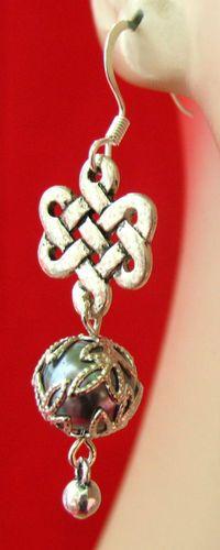 Silver & Purple Celtic Knot Dangle Earrings http://cgi.ebay.com/ws/eBayISAPI.dll?ViewItem=161086546523