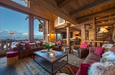 Traditional chalet interior at Chalet Nyumba — Verbier, Switzerland, Luxury Ski Chalets, Ski Boutique