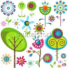 Whimsy Illustrations and Clipart. 772 Whimsy royalty free illustrations, and drawings available to search from thousands of stock vector EPS clip art graphic designers. Doodle Art, Clip Art, Art Fantaisiste, Paper Art, Paper Crafts, Flower Clipart, Flower Doodles, Plant Illustration, Whimsical Art