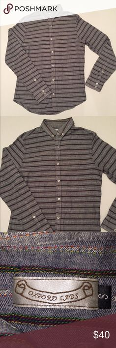 Oxford Lads shirt-long sleeves Check out this like new condition Oxford Lads long sleeve stripped shirt. Only wore once! Perfect with khakis and a nice set of loafers. oxford lads Shirts Casual Button Down Shirts