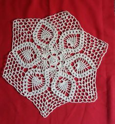 Motivo exagonal em crochê by Arleia