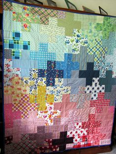 Plus quilt-- would be cool if I could make a tessalation quilt for Susie B!