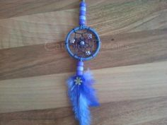 Lilac Dream Catcher Keyring/Bag Dangler with flower beads added to the webbing and a Daisy charm added to the feather drop. Other colours/beads available Dream Catcher For Car, Dream Catchers, Dream Catcher Necklace, Beaded Flowers, Belly Button Rings, Lilac, Daisy, Feather, Colours