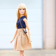 """Keeping it simple for a day on-the-go!  #barbie #barbiestyle"""