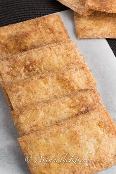 ArtandtheKitchen: Honey Baked Crispy Phyllo Squares, quick and easy to make dessert crisps with honey and cinnamon