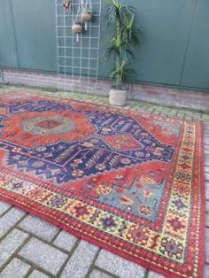 Vintage pers 2x3 m Iran retro Oosters tapijt Perzisch kleed