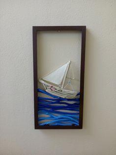 driftwod art Beach Crafts, Home Crafts, Diy And Crafts, Driftwood Projects, Driftwood Art, Diy Wall Art, Wall Art Decor, Wood Slice Crafts, Boat Art