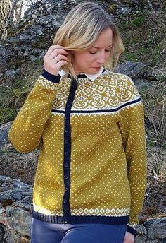 Ravelry: Mosedott pattern by Randi K Design Easy Knitting Patterns, Knitting Projects, Simple Knitting, Cardigan Design, Fair Isle Pattern, Fair Isle Knitting, Knitting For Beginners, Fall Outfits, Knitwear