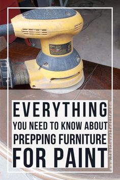 Do you need to prep before you paint? - Do you need to prep before you paint? Peggy Boles peggyboles Craft Room Ideas Everything you need to know about prepping furniture before you paint!