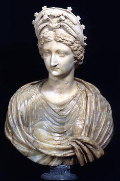 Portrait of Livia Sculpture Tiberian age (14-37 AD) Marble cm 96 / Palazzo Nuovo / Through the rooms - Musei Capitolini