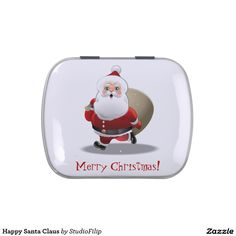 Happy Santa Claus Jelly Belly Tin