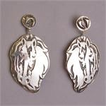"Sterling Silver ""Healing Horse #1"" Earrings, by Kathy ""Elk Woman"" Whitman (Mandan, Hidatsa & Arikara)"